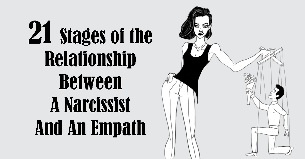 21 Stages Of The Relationship Between A Narcissist And An