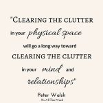 The link between clutter & stress (How to declutter)