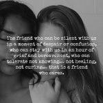 True Friendship Means Making Sacrifices.