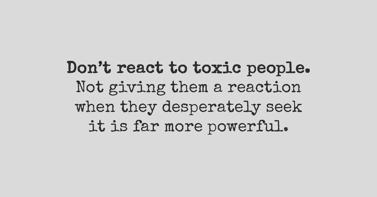 If You Want To Live A Blessed Life Cut Off The Toxic People From It