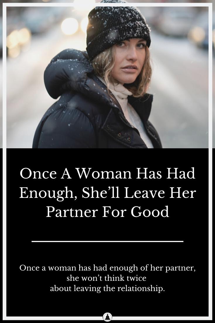 women leave partner