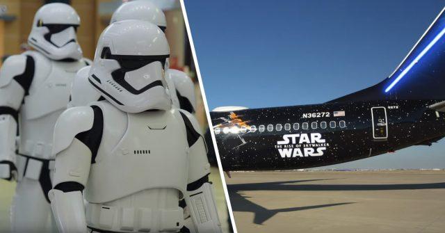 star wars themed plane