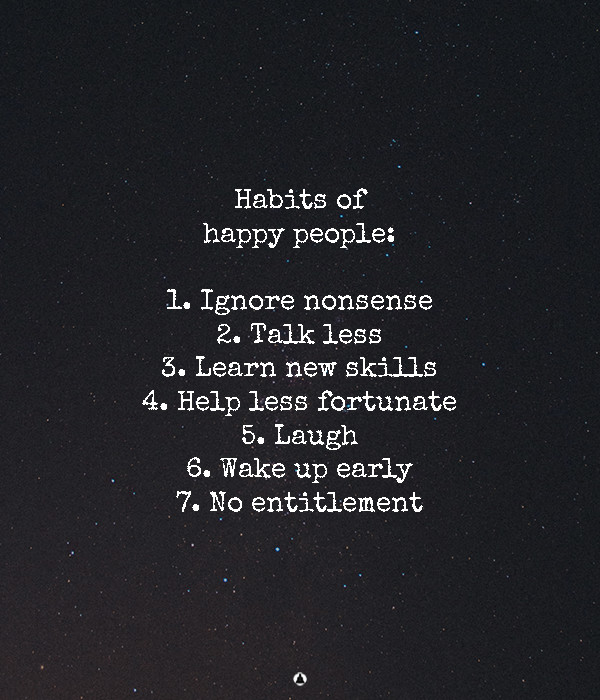 Habits Of Genuinely Happy People