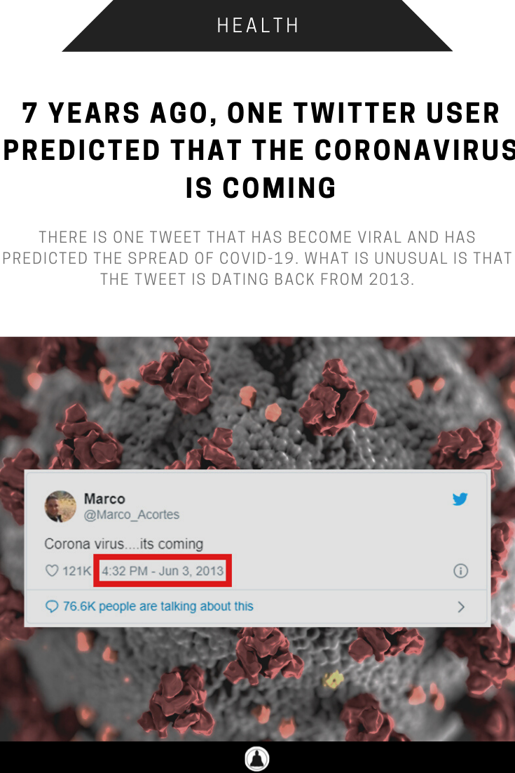 A Twitter User Predicted About Corona Virus 7 Years Ago