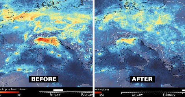 Satelite Images Show A Dramatic Decline In Pollution Levels Over Italy Since The Lockdown