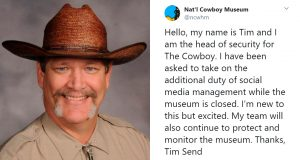 Cowboy Museum Allows Their Head Of Security To Control Their Twitter And His Tweets Are Hilarious