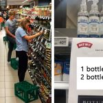 supermarket in denmark corona virus